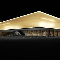 vue de nuit de la bibliothèque: Musées de style  par D3 architectes