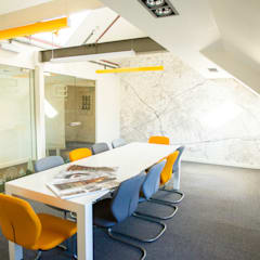 Custom Map Wallpaper used in an architects' meeting room:  Offices & stores by Wallpapered