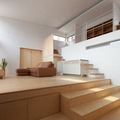 ドレミの家: 株式会社 井川建築設計事務所が手掛けたリビングです。,オリジナル