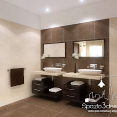 Baños de estilo minimalista de Spazio3Design Minimalista