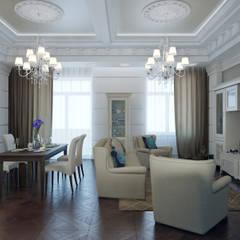 Salas de estilo clásico de EJ Studio Clásico