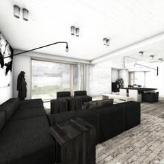 Dom w krajobrazie kujawsko-pomorskim - projekt konkursowy: styl , w kategorii Salon zaprojektowany przez RTP Consulting Sp. z o.o.