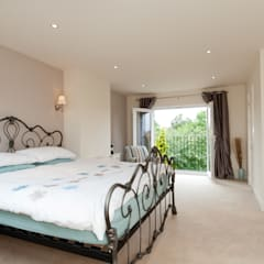 Master Room with French Doors :  Bedroom by A1 Lofts and Extensions