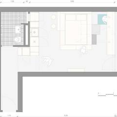 Floor plan: ausgefallene Schlafzimmer von paola bagna