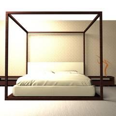 ห้องนอน by Elena Valenti Studio Design