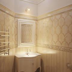 санузел: Ванные комнаты в . Автор – студия Design3F, Классический