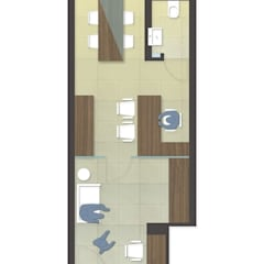 layout plan Modern offices & stores by mold design studio Modern