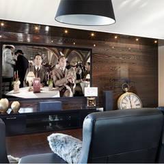 Salle de jeux multifonction: Salle multimédia de style  par Sylvie caron design inc,