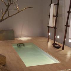 Lofty Porcelánico imitación a madera: Spa de estilo  de INTERAZULEJO