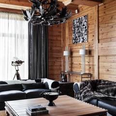 Rustikale Wohnzimmer von Архитектор Татьяна Стащук Rustikal