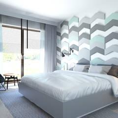63m2: styl , w kategorii Sypialnia zaprojektowany przez ADV Design