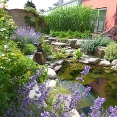 """Umgestaltung eines Tankstellenhinterhofs in einen """"Garten für Auge und Seele"""".:  Schwimmteich von Gärten für Auge und Seele"""