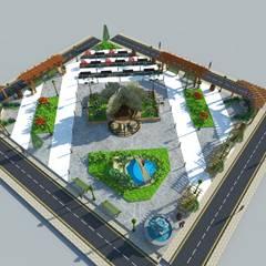 Garden by DETAY MİMARLIK MÜHENDİSLİK İÇ MİMARLIK İNŞAAT TAAH. SAN. ve TİC. LTD. ŞTİ.