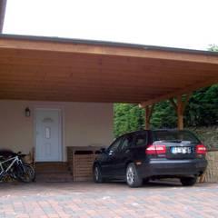 Doppel Carport: klassische Garage & Schuppen von BEGO Holz und Stahl
