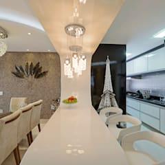 Apartamento Indaiatuba: Salas de jantar modernas por Designer de Interiores e Paisagista Iara Kílaris