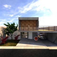 Garage/shed by Ateliê São Paulo Arquitetura