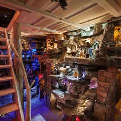 Oświetlenie piwniczki, kamień, cegła: styl , w kategorii Piwnica win zaprojektowany przez Twoje Miejsce