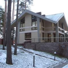 Дом в Сосново: Зимние сады в . Автор – Format A5 Fontanka