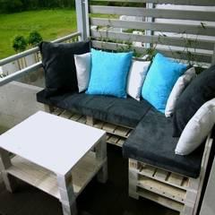 Taras z palet: styl , w kategorii Ogród zaprojektowany przez Palletideas,