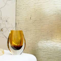 Gilded Cracked Gesso:  Walls by Rupert Bevan Ltd