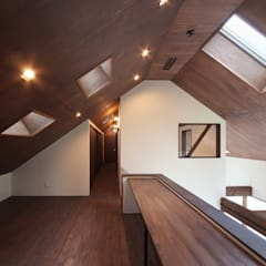 高気密高断熱の大屋根の家: STUDIO POHが手掛けた書斎です。,カントリー