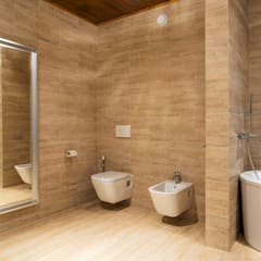 ДОМ В ПОСЕЛКЕ ПОЛИВАНОВО: Ванные комнаты в . Автор – ALEXANDER ZHIDKOV ARCHITECT