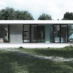 Prefabricated House: Дома в . Автор – ALEXANDER ZHIDKOV ARCHITECT, Минимализм