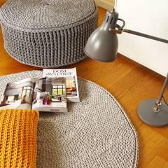 Ręcznie wykonany, dziergany dywan model COPENHAGEN, materiał bawełna, kolor 12 od RENATA NEKRASZ art & design Skandynawski