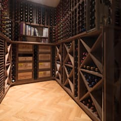 Wine Cellar in American black walnut designed and made by Tim Wood:  Wine cellar by Tim Wood Limited, Classic