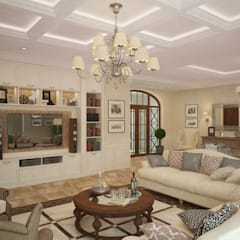 colonial Living room by studio forma