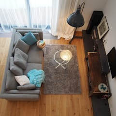 dom 150m2 Projekt Kolektyw Sp. z o.o. Rustykalny salon