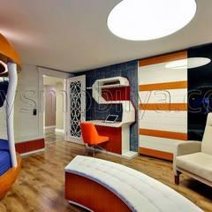 Akabe Mobilya San ve Tic. Ltd. Şti – Basket Genç Odası Tasarımı (kişiye özel ev dekorasyonu istanbul): minimal tarz tarz Çocuk Odası