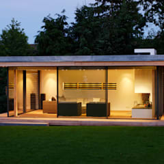Moderner Gartenpavillion im nördlichen Ruhrgebiet:  Garten von Stockhausen Fotodesign