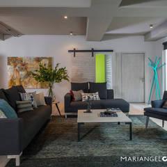 Encinos: Salas de estilo  por MARIANGEL COGHLAN