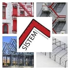 Sistem Mimarlık & Çelik Konstrüksiyon – Çelik Konstrüksiyon ve Yangın Merdiveni :  tarz Dükkânlar