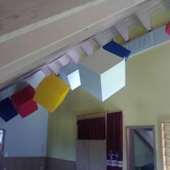 Hohe Räume:  Fitnessraum von BK Inneneinrichtung und Raumgestaltung