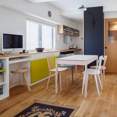 渋谷区の住宅: sorama me Inc.が手掛けたダイニングです。