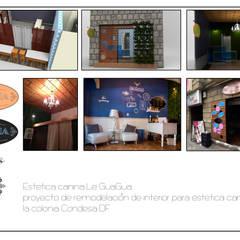 """Estetica canina """"Le GuaGua"""" : Espacios comerciales de estilo  por Armatoste studio"""