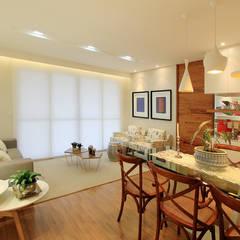 Apartamento Jovem Casal | Campo Grande MS Salas de estar ecléticas por Camila Tannous Arquitetura & Interiores Eclético