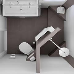Kleine badkamer ontwerpen:  Badkamer door Sani-bouw,