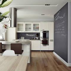Apartament w Krakowie o powierzchni 113 m Skandynawska kuchnia od AvoCADo Skandynawski