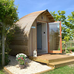 Accommodation Pods:  Bedroom by Armadilla Pods