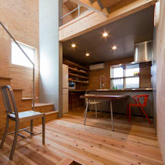 Salle à manger de style  par アトリエセッテン一級建築士事務所, Moderne