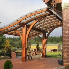 Porches y Pérgolas adosados: Terrazas de estilo  de JAGRAM-PRO