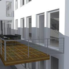 Nutzungsänderung einer Brennerei in ein Loft:  Terrasse von Andreas Wünnenberg  |  Architekt