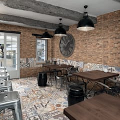 East End Brick:  Dining room by The Baked Tile Company