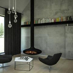 Dom z widokiem na Beskidy Minimalistyczny salon od 3XEL Biuro projektowe Minimalistyczny