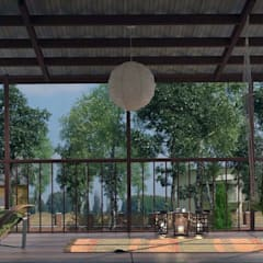 мансарда с террасой - attic with  terrace: Tерраса в . Автор – AnARCHI, Эклектичный