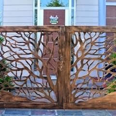 Teknik Metal Ferforje – Ferforje Bahçe Kapıları:  tarz Bahçe, Modern