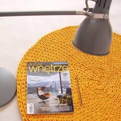 Ręcznie wykonany, dziergany dywan model COPENHAGEN, materiał bawełna, kolor 21 od RENATA NEKRASZ art & design Skandynawski